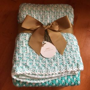 Other - Teal & White Throw